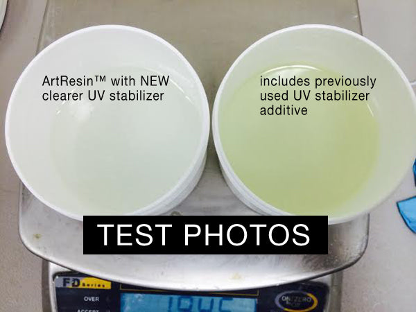 artresin UV HALS yellow Part A test sept 2014