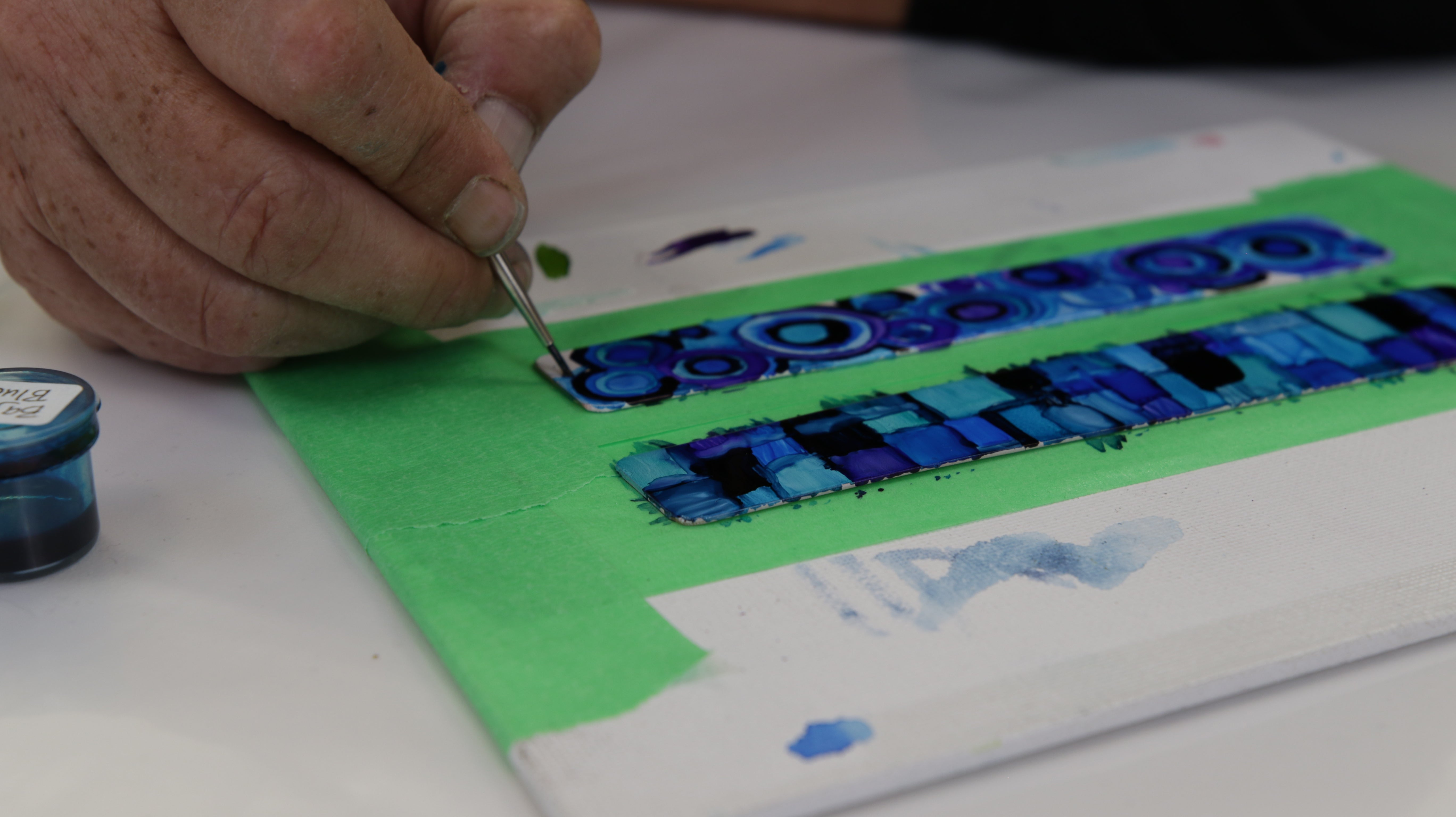 fill in white spaces with alcohol ink