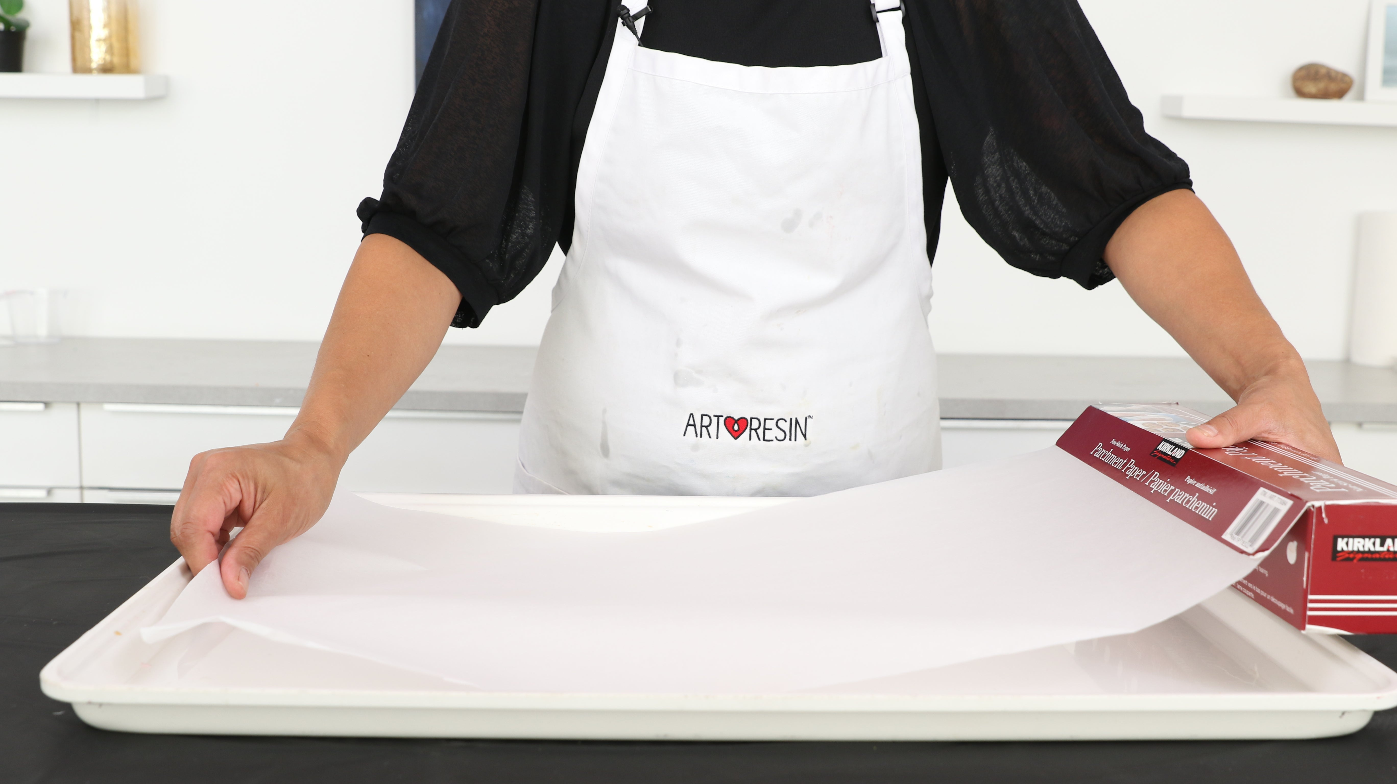 parchment paper non-stick for small resin projects