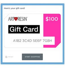 epoxy resin artist gift card