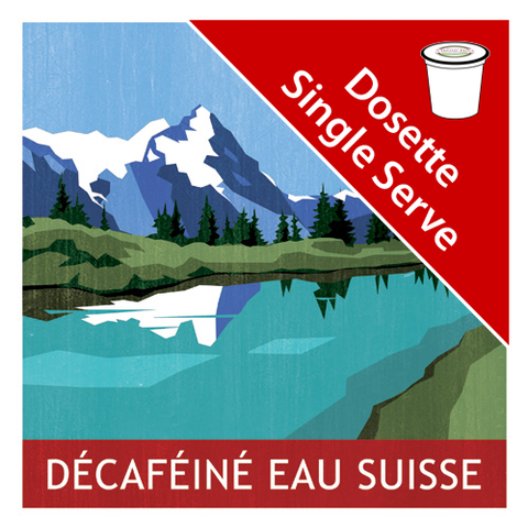 Eau Suisse Decaf Single Serve|Décaféiné Eau Suisse en dosettes