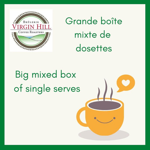 Big Mixed Box of Single Serves| Grande boîte mixte de dosettes