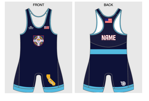 TMWC Youth Singlet Set (Blue and Red)