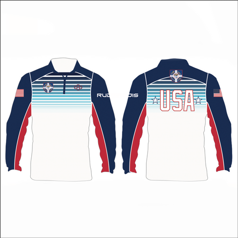 TMWC Youth Sublimated Striped Quarter Zip