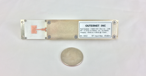 Outernet Single Element Patch Antenna with Integrated LNB