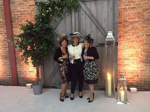 Jessica Rea Millinery Clients at a Wedding