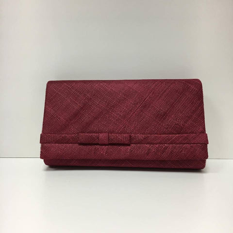 Large Clutch Bag - Burgandy