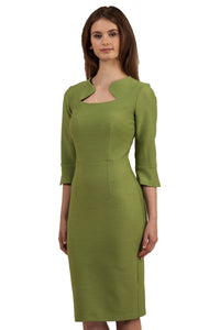 Diva Kennedy Dress - Seed, Colture Stretch, Citrus Green