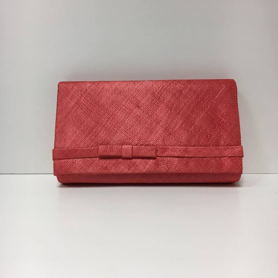 Large Clutch Bag - Coral