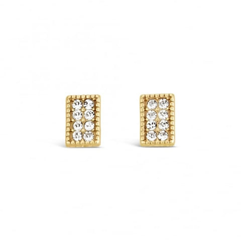 Park Lane Lovely Gold Plated Crystal Stud Earings