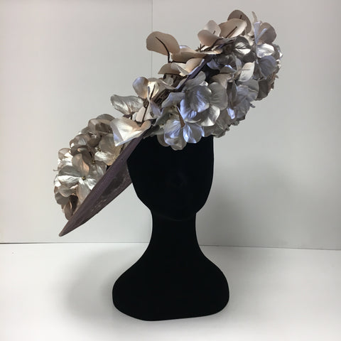 rose gold, headpiece, chrome flowers, disc, beautiful