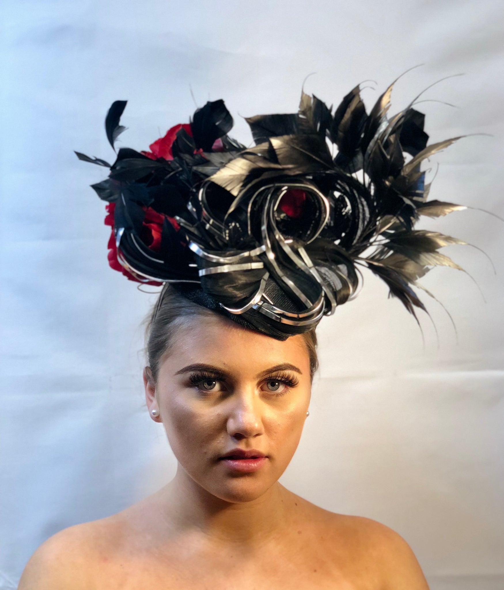 Black and Red Wire Headpiece