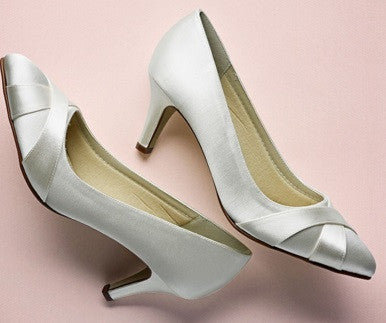 Rainbow Club Shoes, LEXI, Satin Shoes, Ivory