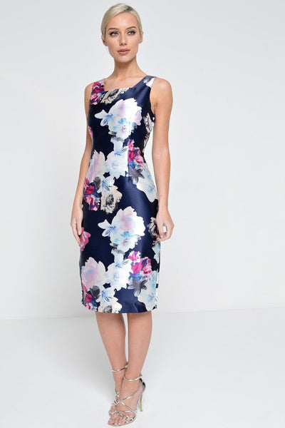 Marc Angelo Floral Print Dress, Navy