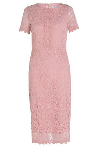 Marc Angelo Lace Overlay Dress, Pink