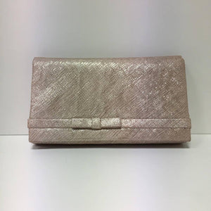 Large Clutch Bag - Metallic Nude