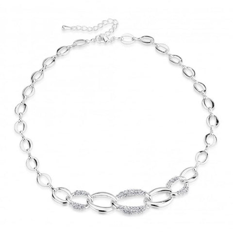 Park Lane Link Chain Rhodium Plated Necklace