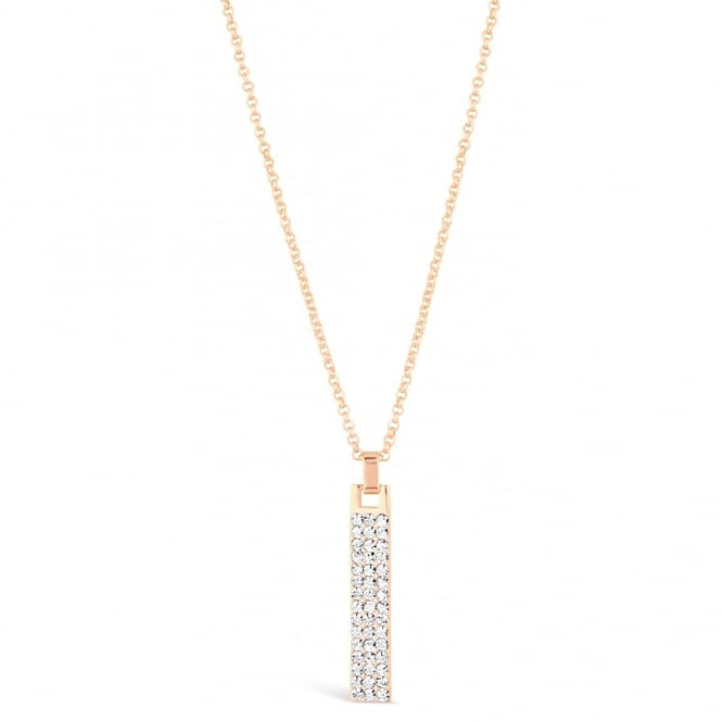 Park Lane Rose Gold Plated Necklace with Crystal Stones Pendant