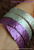 Spiral Knitting Needle Bangle Bracelet - Smashed Vintage Boho Gypsy Style Jewelry