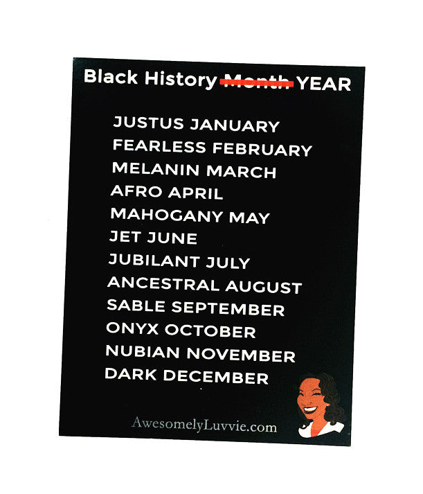 Black History Year Sticker