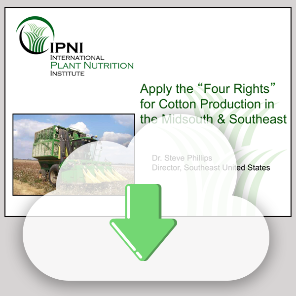 Power Point Slide Set: Fertilizer BMPs for Cotton in the Midsouth and Southeast
