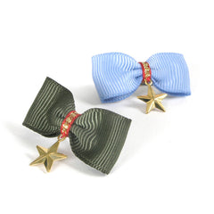 dog hair bows + barrettes