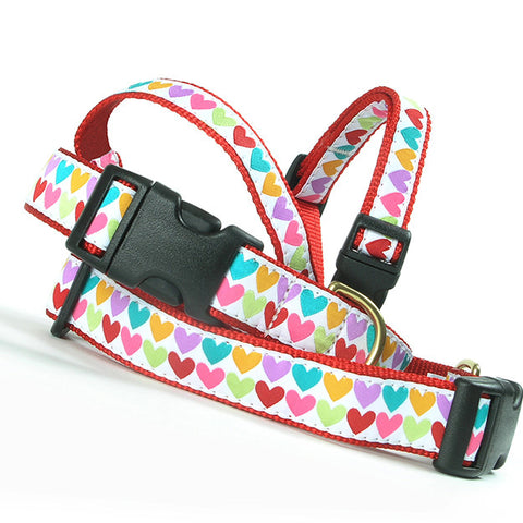 Candy Heart Step-In Harness Small