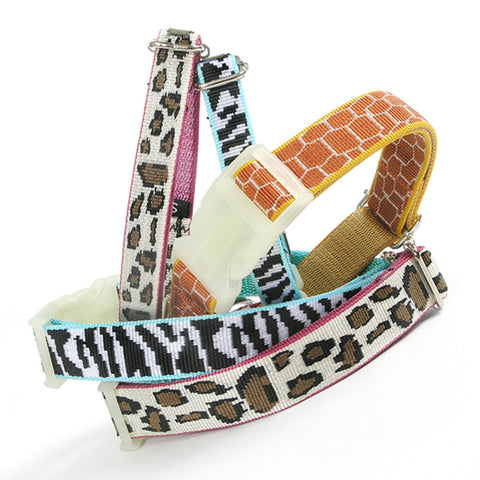 Safari Nylon Collar, Giraffe, Size XS