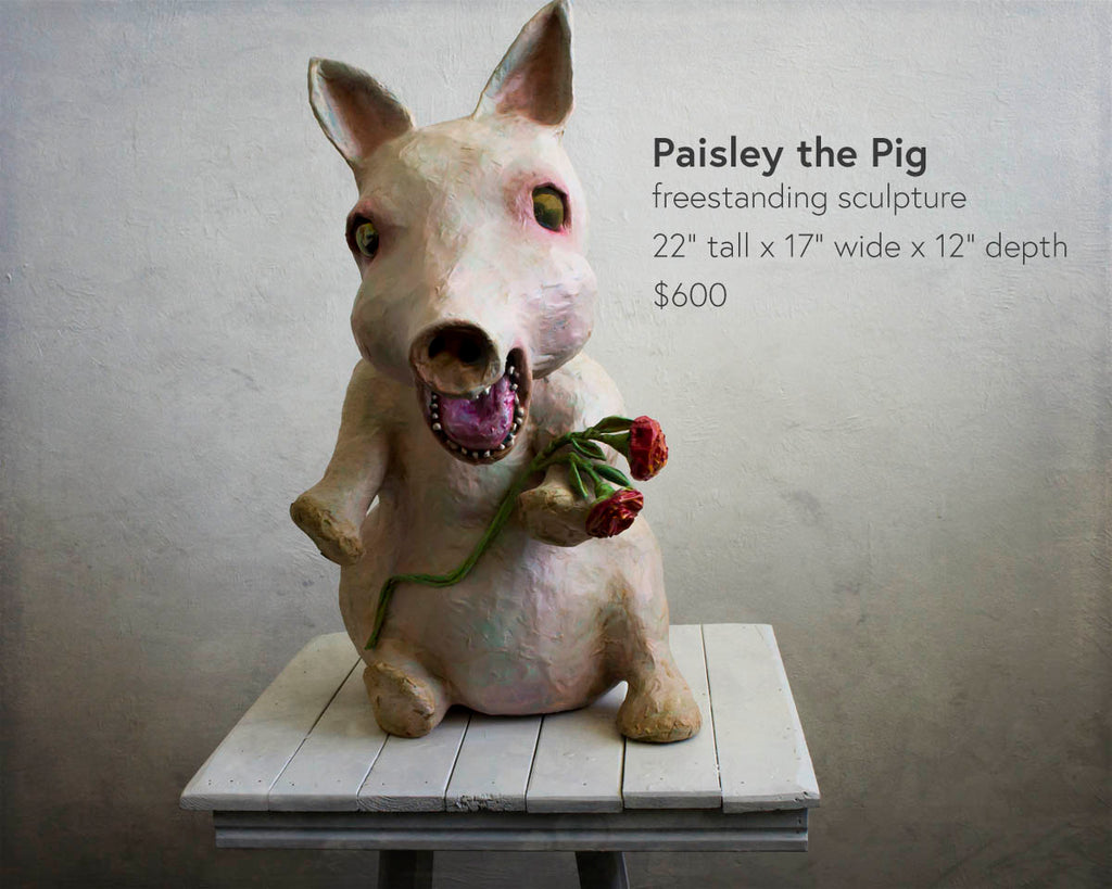 paisley the pig sculpture