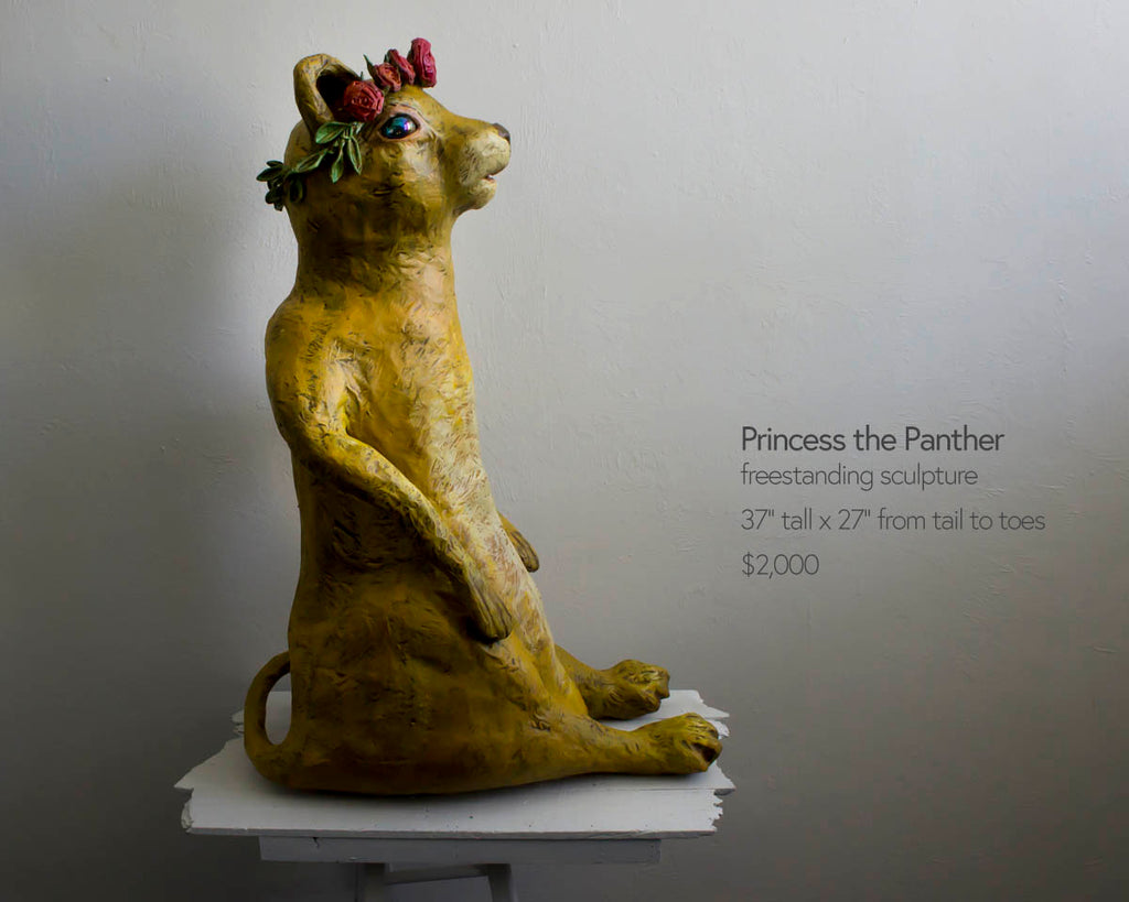 princess the panther freestanding sculpture