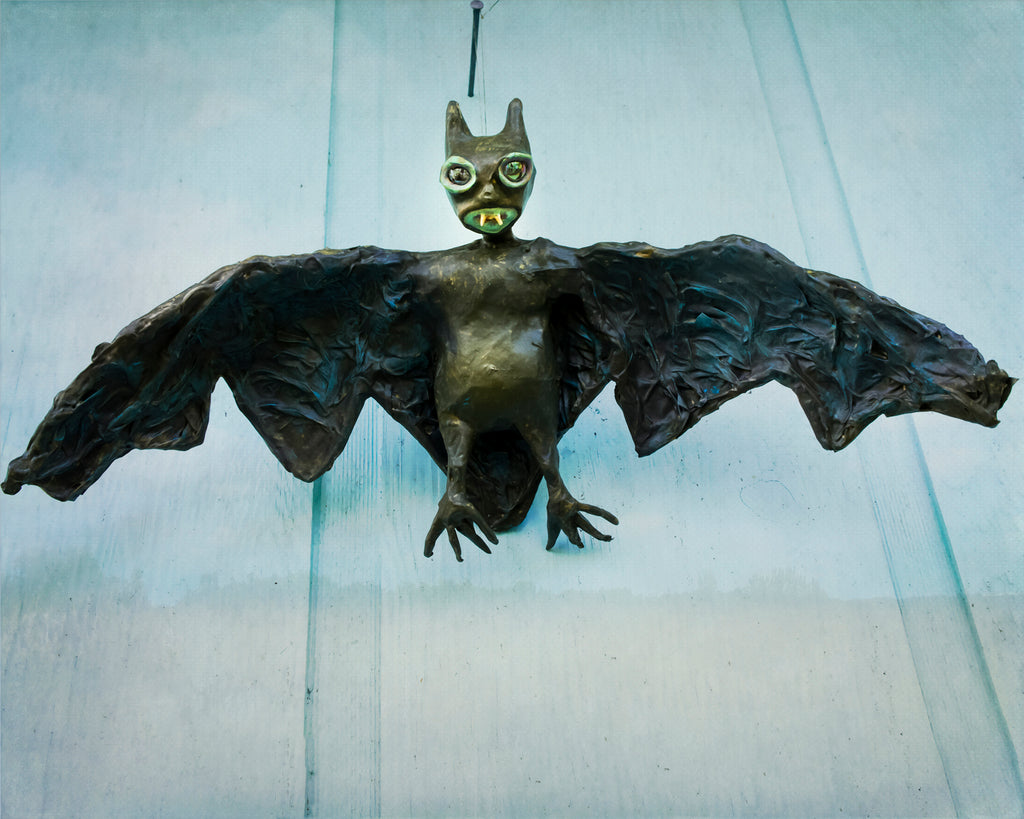 sculpted flying bat hanging