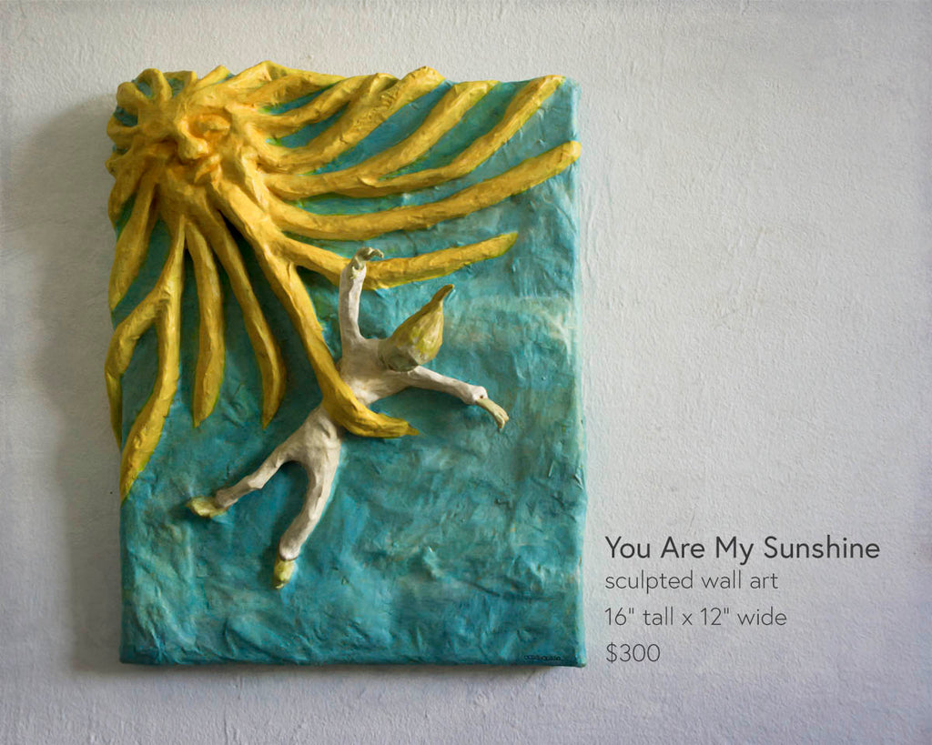 you are my sunshine sculpted wall art