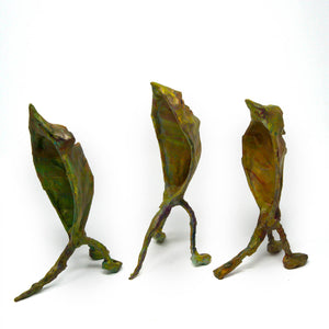 Band of Fallen Leaves Set of 3 Sculptures