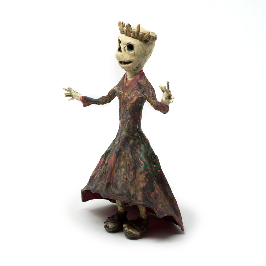 Estelle the Skeleton Queen Sculpture