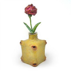 Isabell's Flower Tequila Bottle Sculpture