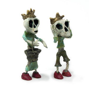 Jack and Jill Skeleton Sculptures