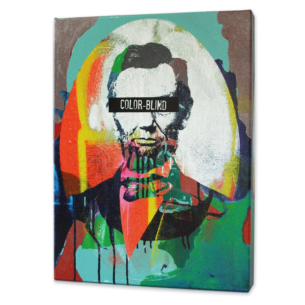 Abraham Lincoln Color Blind Print Matthew Lew