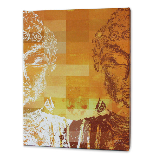 Zen Buddha Orange Print - Matthew Lew Art Print