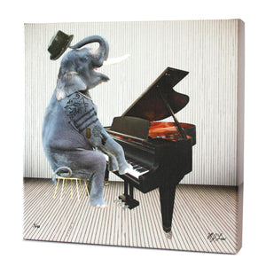 Animal Band: Ethan Elephant Print - Matthew Lew Art Print