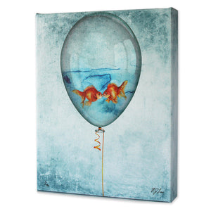 Kissing Goldfish Print - Matthew Lew Art Print