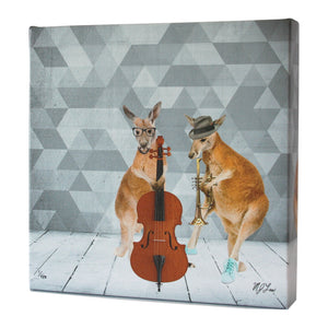 Animal Band: Kirby & Kolby Kangaroo Print - Matthew Lew Art Print