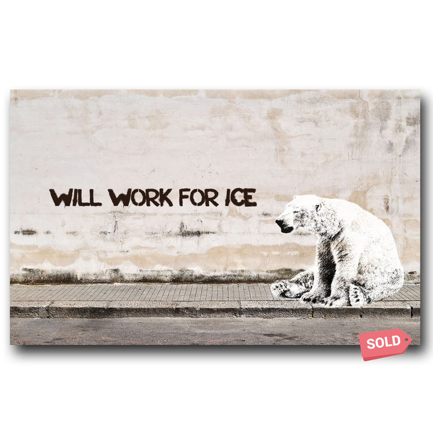 Will Work For Ice - Matthew Lew Art Print