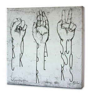 Rock Paper Scissors Print - Matthew Lew Art Print