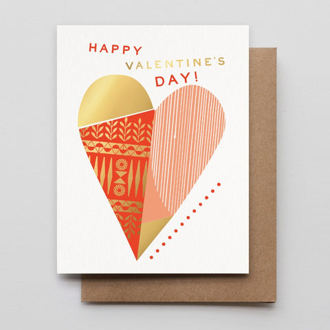 Valentine's day Heart Collage Letterpress Card