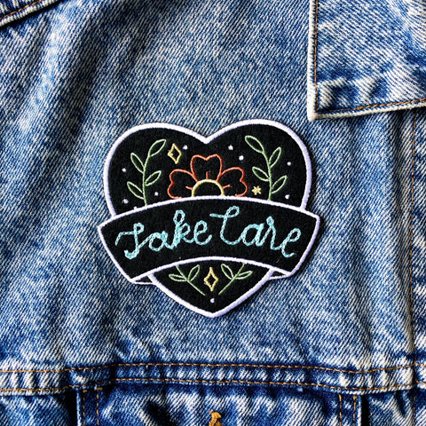 Custom Chain Stitched Heart Patch