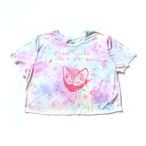 Scream Inside Your Heart Kitty Crop Top