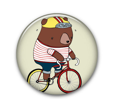 "Fixie Bear 1"" button"