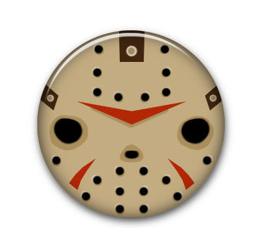 "Horror - Jason 1"" button"