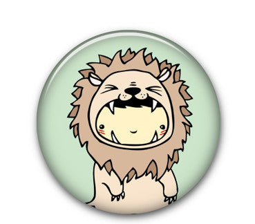 "Lion Wolfe 1"" button"