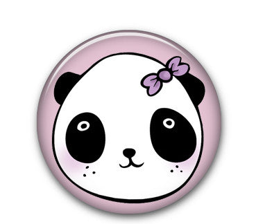 "Panda Miss 1"" button"